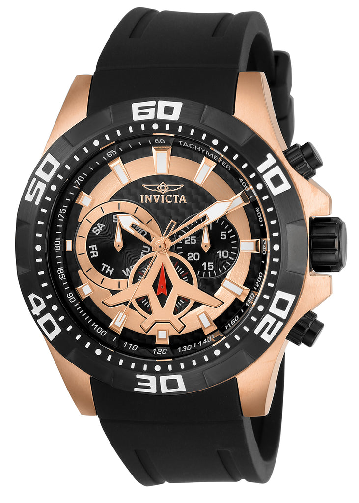 Invicta Men's 21740 Aviator Quartz Multifunction Black Dial Watch