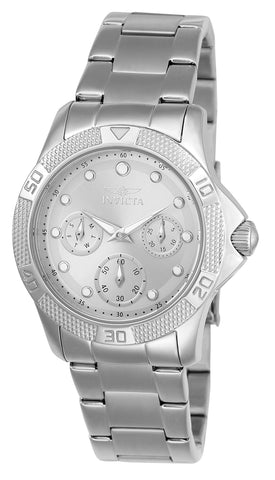 Invicta Women's 21764 Angel Quartz Chronograph Silver, White Dial Watch