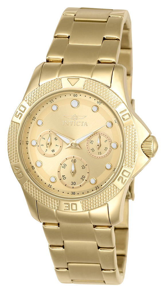 Invicta Women's 21766 Angel Quartz Chronograph Gold, White Dial Watch