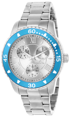 Invicta Women's 21772 Angel Quartz Chronograph Silver Dial Watch