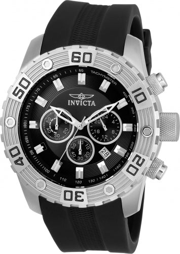 Invicta Men's 21825 Pro Diver Quartz Chronograph Black Dial Watch