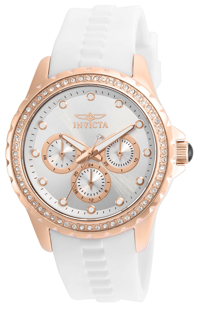 Invicta Women's 21901 Angel Quartz Chronograph Silver Dial Watch