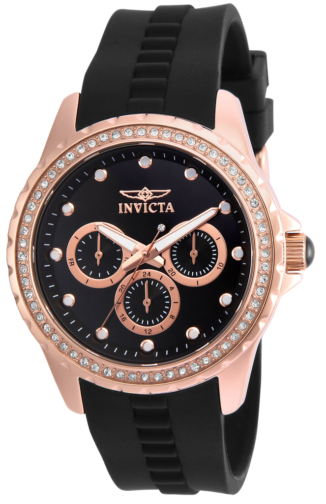 Invicta Women's 21902 Angel Quartz Chronograph Black Dial Watch