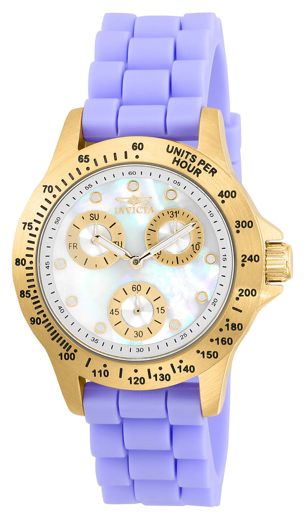 Invicta Women's 21975 Speedway Quartz Chronograph White Dial Watch