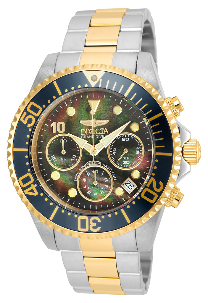 Invicta Men's 22037 Pro Diver Quartz Chronograph Black Dial Watch