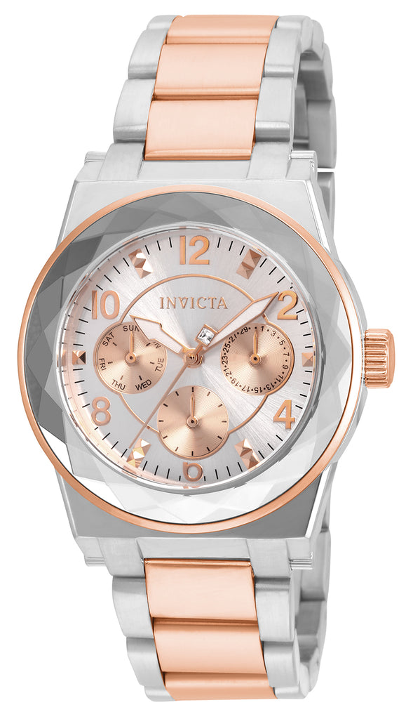Invicta Women's 22109 Angel Quartz Chronograph Silver Dial Watch