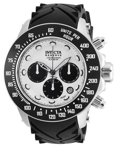 Invicta Men's 22136 Reserve Quartz Chronograph Silver, Black Dial Watch