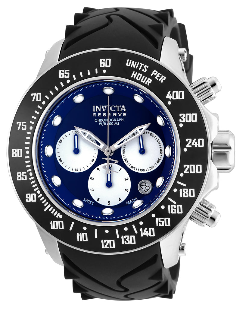 Invicta Men's 22137 Reserve Quartz Chronograph Blue, White Dial Watch