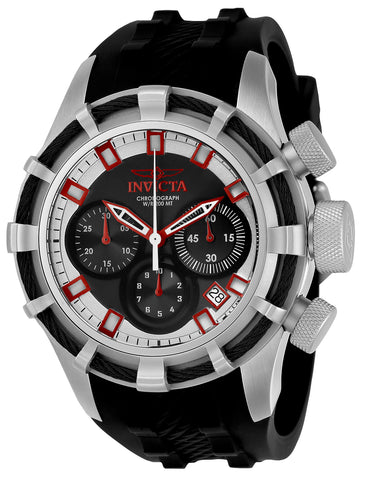Invicta Men's 22146 Bolt Quartz Chronograph Black, Red, Silver Dial Watch