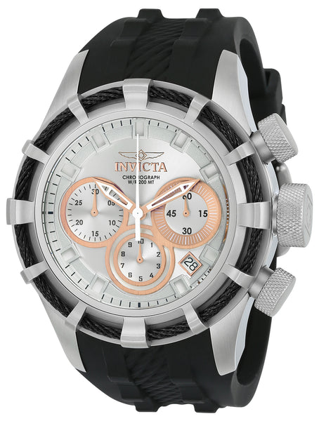 Invicta Men's 22148 Bolt Quartz Chronograph Silver, Rose Gold Dial Watch