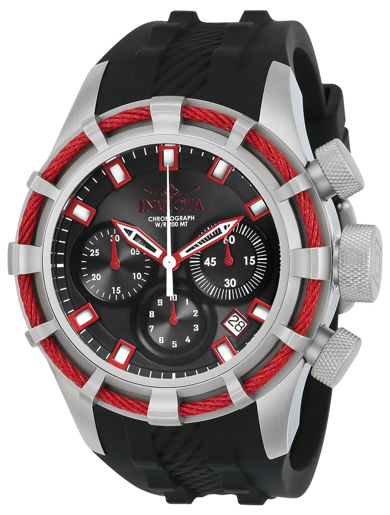Invicta Men's 22151 Bolt Quartz Chronograph Black, Red Dial Watch