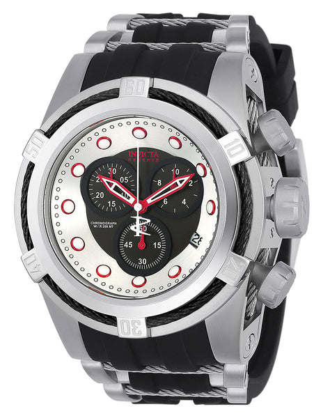 Invicta Men's 22160 Bolt Quartz Chronograph Black, Silver Dial Watch