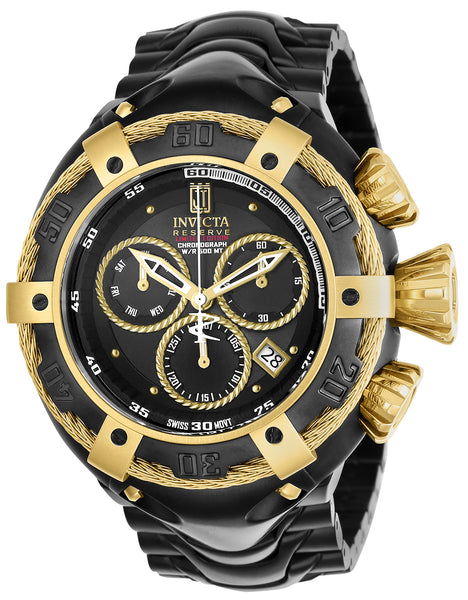 Invicta Men's 22174 Jason Taylor Quartz Chronograph Black Dial Watch