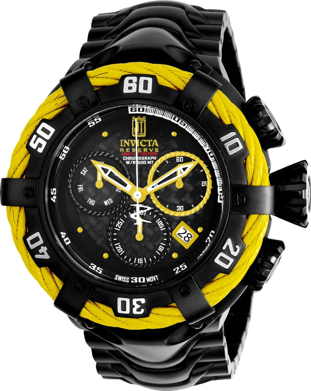 Invicta Men's 22179 Jason Taylor Quartz Chronograph Black Dial Watch