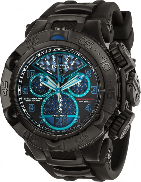 Invicta Men's 22283 Jason Taylor Quartz Chronograph Black, Blue Dial Watch