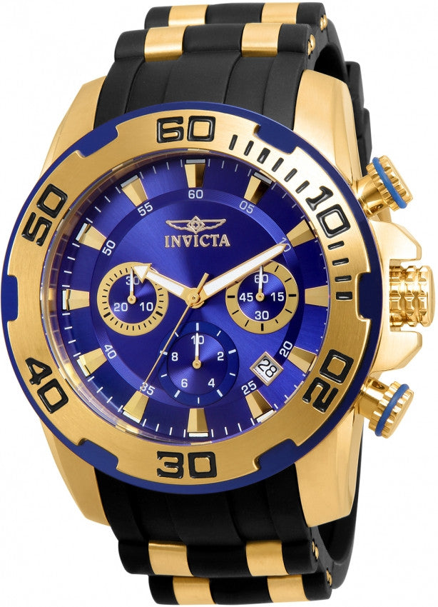 Invicta Men's 22313 Pro Diver Quartz Chronograph Blue Dial Watch