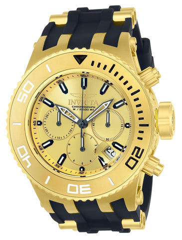 Invicta Men's 22365 Subaqua Quartz 3 Hand Gold Dial Watch
