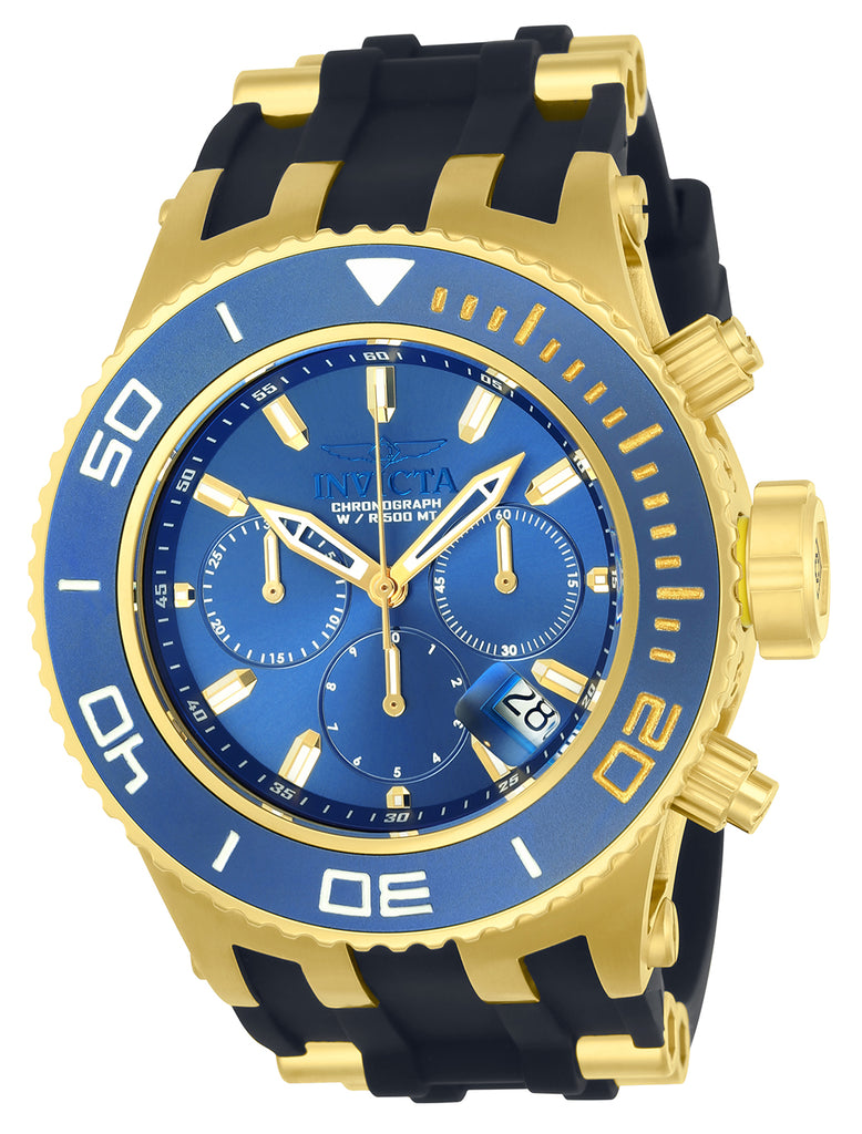 Invicta Men's 22366 Subaqua Quartz 3 Hand Blue Dial Watch
