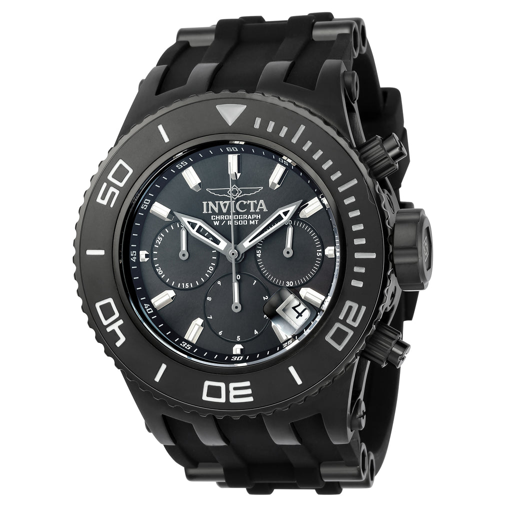Invicta Men's 22367 Subaqua Quartz 3 Hand Black Dial Watch