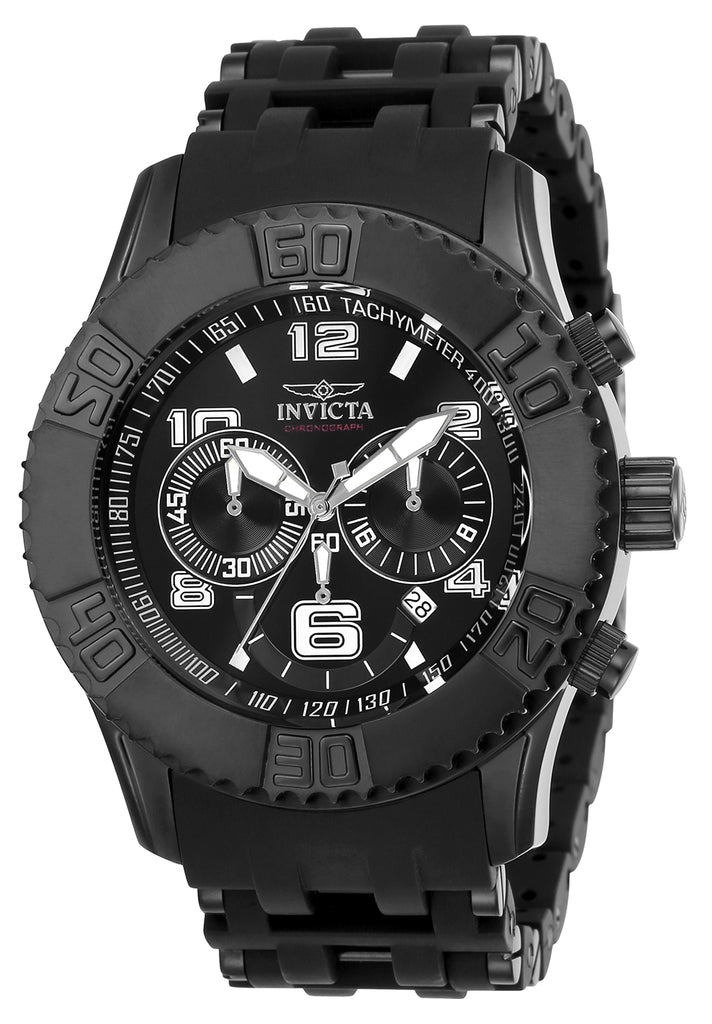 Invicta Men's 22454 Sea Spider Quartz Multifunction Black Dial Watch