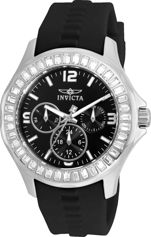 Invicta Women's 22469 Angel Quartz Chronograph Black Dial Watch