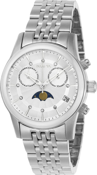 Invicta Women's 22499 Angel Quartz Multifunction Silver Dial Watch