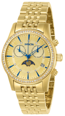 Invicta Women's 22505 Angel Quartz 3 Hand Gold Dial Watch