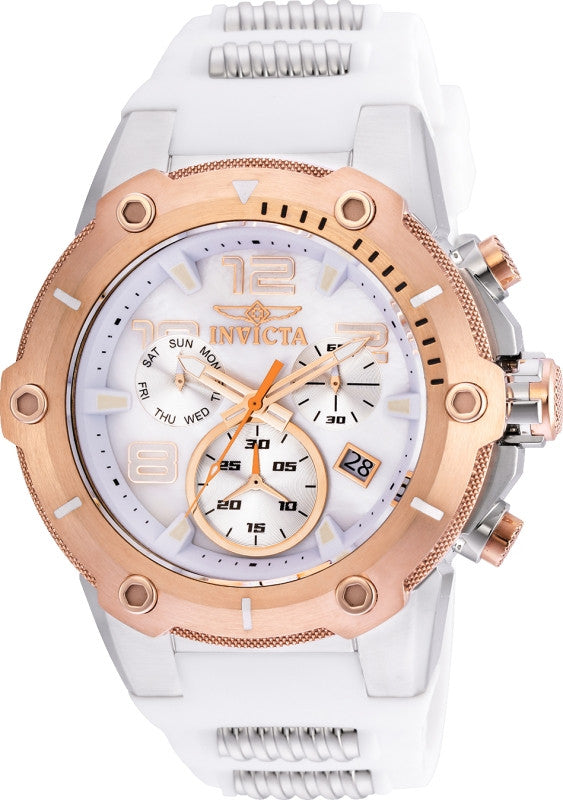 Invicta Men's 22513 Speedway Quartz Chronograph White Dial Watch