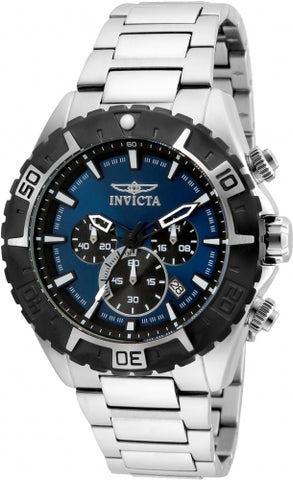 Invicta Men's 22526 Aviator Quartz Multifunction Blue Dial Watch