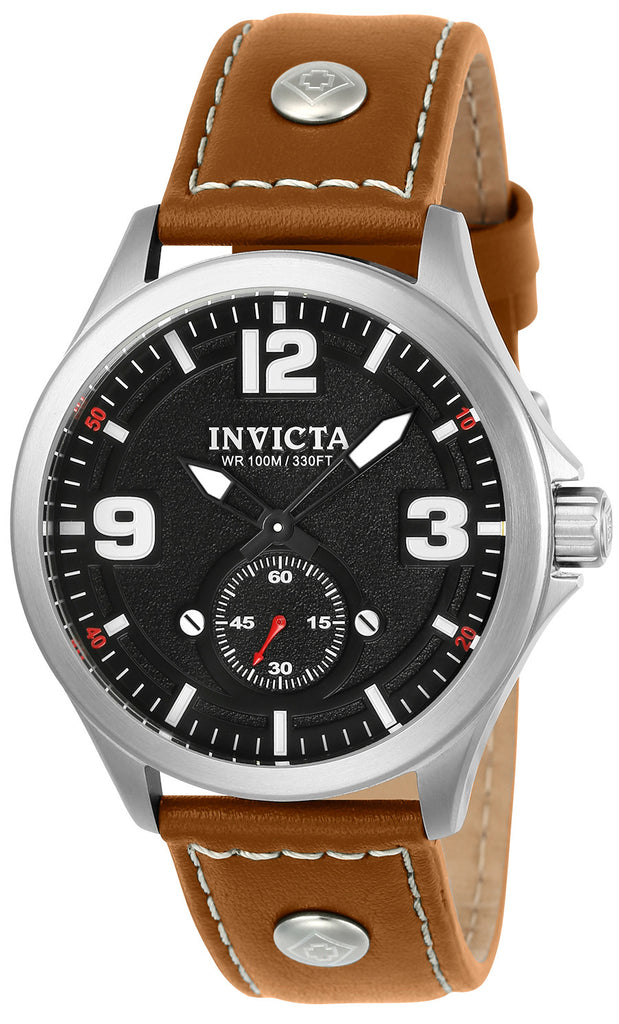 Invicta Men's 22528 Aviator Quartz Multifunction Dark Grey Dial Watch
