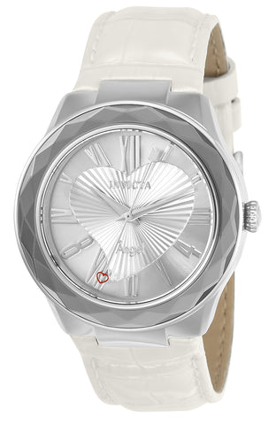 Invicta Women's 22539 Angel Quartz 3 Hand Silver Dial  Watch