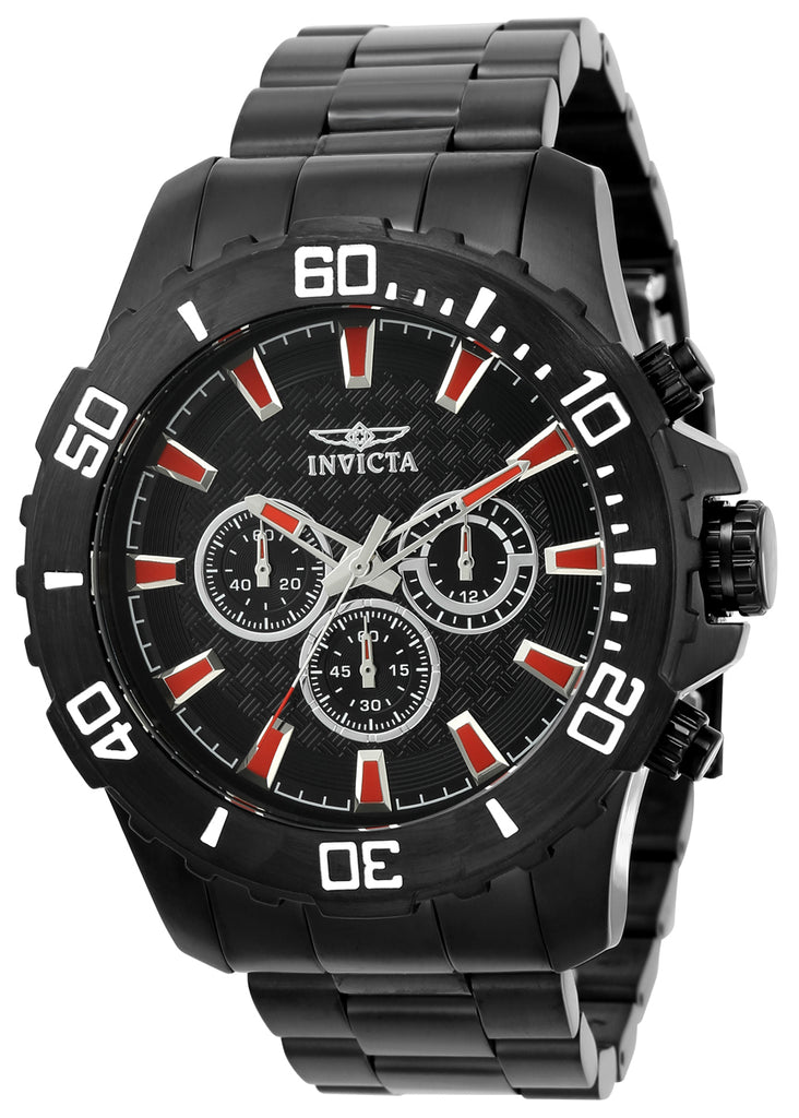 Invicta Men's 22549 Pro Diver Quartz Chronograph Black Dial Watch