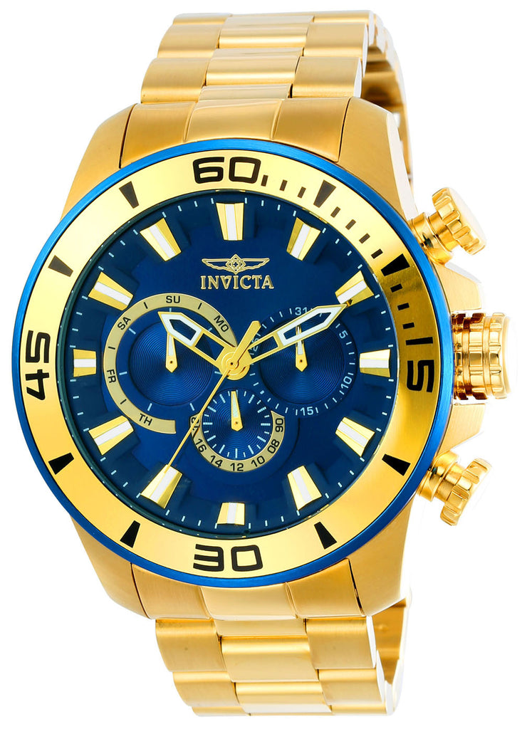 Invicta Men's 22587 Pro Diver Quartz Chronograph Blue Dial Watch