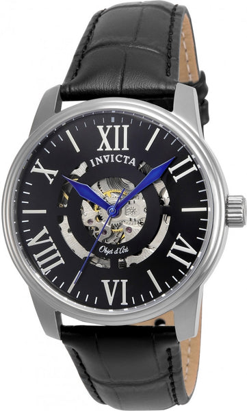 Invicta Men's 22600 Objet D Art Automatic 3 Hand Black Dial Watch