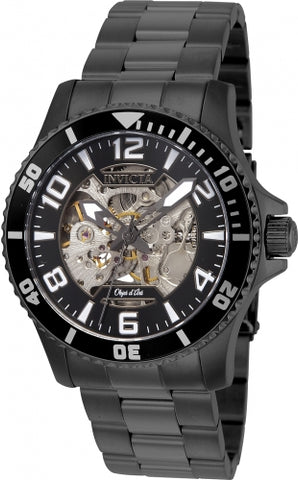 Invicta Men's 22606 Objet D Art Automatic 3 Hand Black Dial Watch