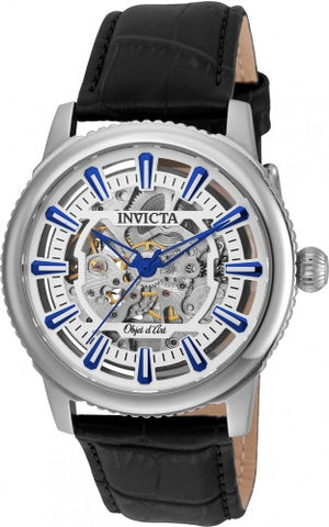 Invicta Men's 22610 Objet D Art Automatic 3 Hand Silver Dial Watch