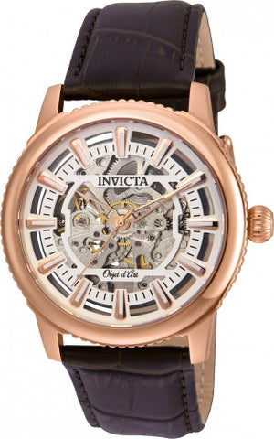 Invicta Men's 22612 Objet D Art Automatic 3 Hand Silver Dial Watch
