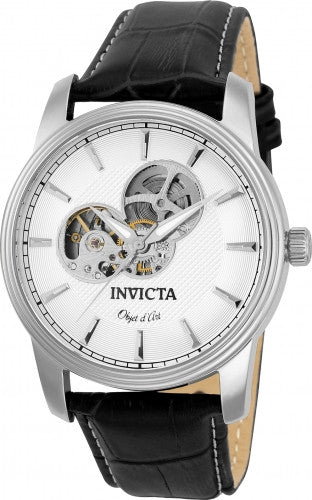 Invicta Men's 22616 Objet D Art Automatic 3 Hand Silver Dial Watch