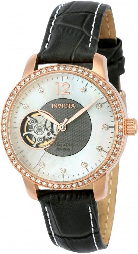 Invicta Women's 22623 Objet D Art Automatic 3 Hand White, Grey Dial Watch