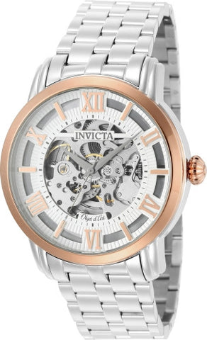 Invicta Men's 22628 Objet D Art Automatic 3 Hand Silver Dial Watch