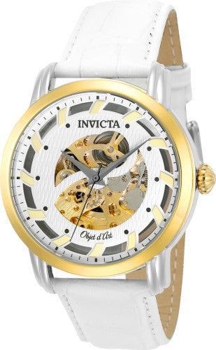 Invicta Men's 22635 Objet D Art Automatic 3 Hand Silver Dial Watch