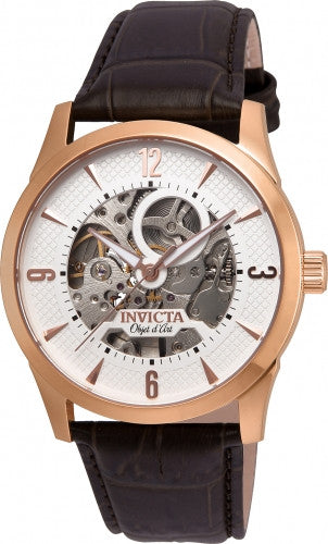 Invicta Men's 22637 Objet D Art Automatic 3 Hand White Dial Watch