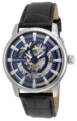 Invicta Men's 22640 Objet D Art Automatic 3 Hand Blue Dial Watch