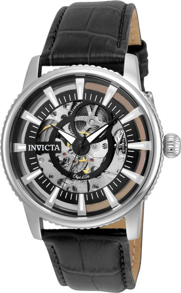 Invicta Men's 22641 Objet D Art Automatic 3 Hand Black Dial Watch