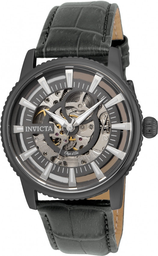 Invicta Men's 22644 Objet D Art Automatic 3 Hand Charcoal Dial Watch
