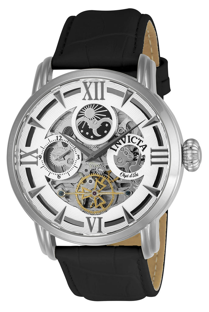 Invicta Men's 22650 Objet D Art Automatic 3 Hand Silver Dial Watch