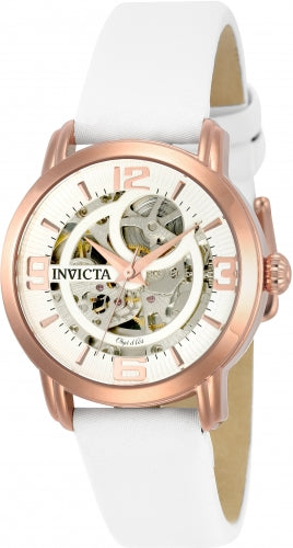 Invicta Women's 22655 Objet D Art Automatic 3 Hand Silver Dial Watch