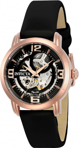 Invicta Women's 22656 Objet D Art Automatic 3 Hand Black Dial Watch