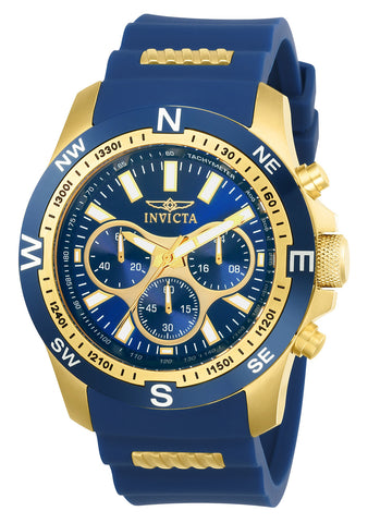 Invicta Men's 22682 I-Force Quartz Multifunction Blue Dial Watch