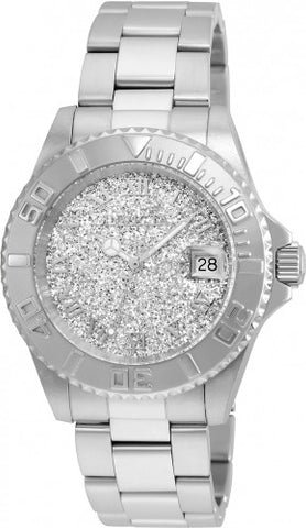 Invicta Women's 22706 Angel Quartz 3 Hand Silver Dial Watch